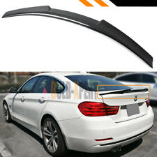 FOR 14-19 BMW F36 430i 435i 440i GRAN COUPE CARBON FIBER M4 STYLE TRUNK SPOILER