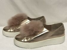 Steve Madden 8.5 M Rose Gold Pom Pom Breeze Platform Sneaker NEW no box