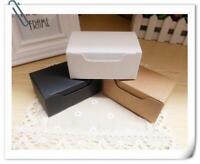 100x Kraft White Black Rectangle Paper Boxes Wedding Party Favor Box Packing Box