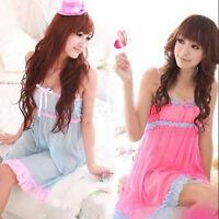 Women Sexy Lingerie Lace Sheer Dress Babydoll Sleepwear G-string Underwear