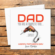 Personalised Handmade Fathers Day Card Funny Rude Happy Birthday Christmas Tool
