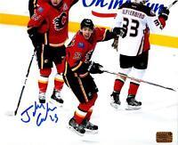 Johnny Gadreau Autographed Calgary Flames 8x10 photo