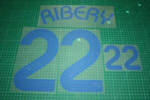 Flocage RIBERY France - maillot blanc Patch Football