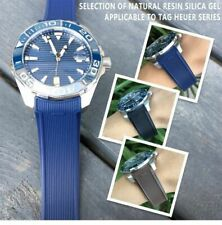 22mm Silicone Rubber Strap Watch band for Tag Heuer Carrera Aquaracer QUALITY!