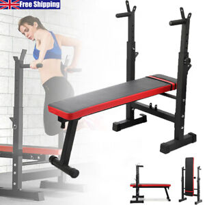 Adjustable Lifting Barbell Weight Bench Flat Incline Sit Up Gym Workout Home Red