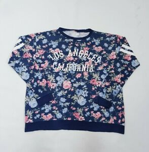 LOS ANGELES CALIFORNIA 80s/90s Inspired Retro Floral Graphic Sweatshirt •L•