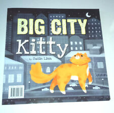 BIG CITY KITTY Kids Story Book GREAT PICTURES Lost Ginger Cat Bravery Love GIFT