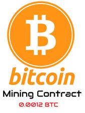Bitcoin (0.0012 BTC)  Mining Contract 6 Hours Get your BTC
