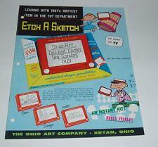 1961 OHIO ART Toy Catalog Tin Tops Tea Sets Farm Playsets Buckeye Trucks Tractor
