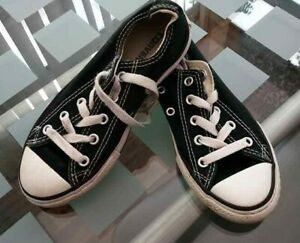 Size 12.5 (31 euro) Converse All Stars Sneakers Black White Pumps Trainers Kids