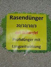 10kg Rasendünger Dünger Volldünger 20/10/10/3 mit 3%Schwefel 20%Stickstoff Profi