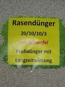 30 kg Rasendünger Dünger Volldünger 20/10/10/3 mit 3%Schwefel 20%Stickstoff Prof