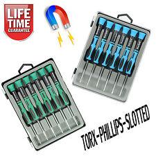 2x 6PZ CACCIAVITE PRECISIONE Magnetico Set notebook RIPARAZIONE TORX PHILLIPS
