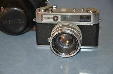 Yashica Lynx 14 Camera with Case Parts/Repair