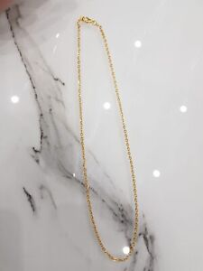 Men and Women's Shiny Gold (18K) Necklace/Chain. 18 Inch.