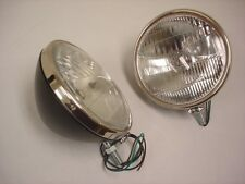 1933 1934 Ford Commercial Car Pickup Truck Headlights Glass Lens w/ Logo