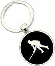 Bassin and Brown Unisex Hockey Player Key Ring - Black/White