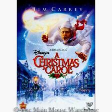 Disney Charles Dickens Jim Carrey CGI Animated A Christmas Carol Movie on DVD