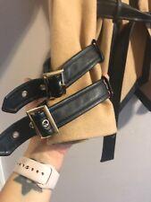 Bebe womens beige coat with leather trim Medium