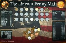 "11""X17"" Lincoln Coin Roll Hunting Mat~Search/Collection~Soft/Safe Rubber~!"