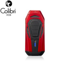 NEW Colibri Boss III Triple Jet Flame Lighter With Fold Out Cigar Cutter RED