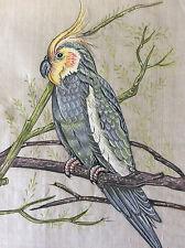 Peinture sur papier de riz asie oiseau calopsitte ou cockatiel
