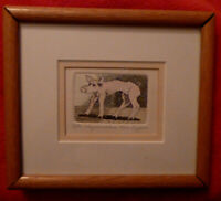 Signed David Bigelow Humor Fantasy Funny Pig Limit ACEO Etching Art Man Cave