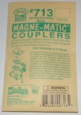Kadee HOn3 /  TT scale #713 magne-matic couplers (rust)