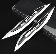 2pcs Top AMG Auto car Aufkleber Emblem Fenders Schriftzug für Dolch Racing power