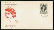 Tristan Da Cunha 1953 QEII Royalty First Day cover