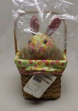 Longaberger 2011 Warm Brown Easter Basket w/ Liner and Longabunny! NWT