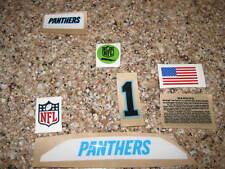 Carolina Panthers 20 mil 3M vinyl full size football helmet decals