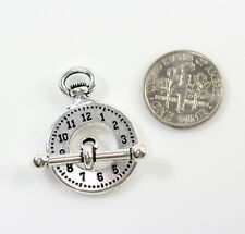 Clock and Bar Toggle Clasp Sets,TierraCast, Antiqued Silver Plate, 1 Set, 6712
