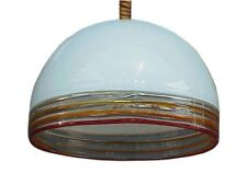 Leucos ceiling lamp in glass Febo by Robert Pamio design year '70 perfect