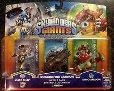 ! Skylanders Giants ShroomBoom Dragonfire Cannon & Chop Chop 3 pack -Shroom boom