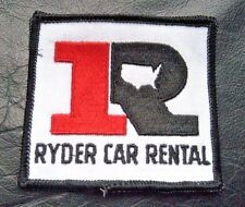"""RYDER CAR RENTAL EMBROIDERED SEW ON PATCH RENT A CAR AUTO UNIFORM 3 1/4"""" x 3"""""""