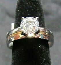 SIMULATED DIAMOND ENGAGEMENT ROUND SOLITAIRE RING 1.75 CTS SIZE 8 NIB LOT 143