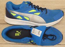 PUMA !! Herren Sneaker Turnschuh Gr. 41 (42) // blau mit silber und neongelb