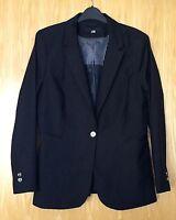 H&M Black Lightweight Jacket Blazer In Size 14.