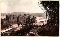 Castle & Bridge From The Woods Conway RPPC postcard real photograph antique