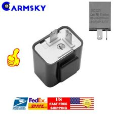 2-PIN Electronic LED Flasher Relay Turn Signal Blinker Light For Motorcycle USA
