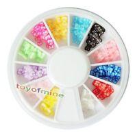 New 120 PCS 3D Bowtie Fimo Nail Art Tips UV Acrylic Decoration Wheel