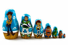 Cartoon Toy Story Matryoshka Russian Nesting Wood Dolls Matrioshka 7 Pcs