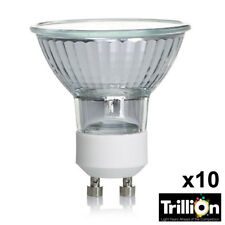 10x trilion GU10 50w Bombillas halógenas 50mm regulable Foco 240v Lámparas