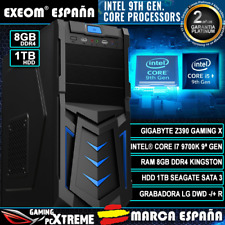 Ordenador Pc Gaming Intel Core i7 9700K 8xCORES 8GB DDR4 1TB HDD HDMI Sobremesa
