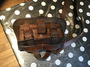 Antique leather Shooting / Cartridge pouch