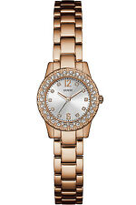 GUESS W0889L3,Ladies Dress,Stainless Steel,Rose Gold-Tone,Crystal Accented Bezel