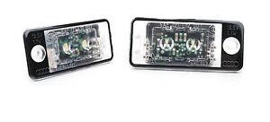 Audi A3 S3 A4 S4 A5 S5 A6 S6 A8 Genuine LED License Plate Lights Rear Lamps OEM