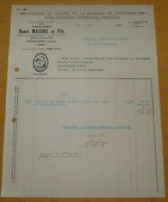 Facture Engrais de vinasse sucrerie Pithiviers  Produits agricoles  Potasse 1960
