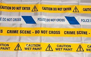 Prank barrier tape - CAUTION DO NOT ENTER, CRIME SCENE, POLICE, WET PAINT